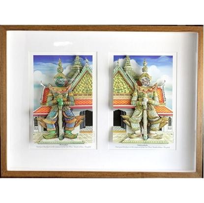 Picture of Thotsakan 3D Picture Frame- Wat Arun Couple Giants Statue  (กรอบรูปรูปยักษ์วัดอรุณคู่)