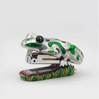 Picture of Loyfar Frog painted hand-crafted pewter stapler