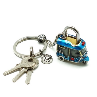Picture of กุญแจล็อครูปตุ๊กตุ๊กดีบุกผสมเพ้นท์สีทำมือ