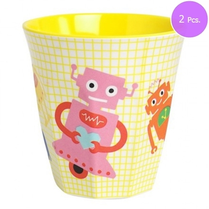Picture of MEDIUM CURVED CUP W ROBOT PRINT 2 Pcs.