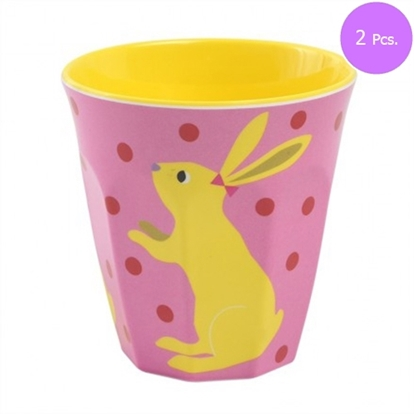 Picture of MEWLCOOL CUP ( M ) W. RABBIT ( PINK ) 2 Pcs.