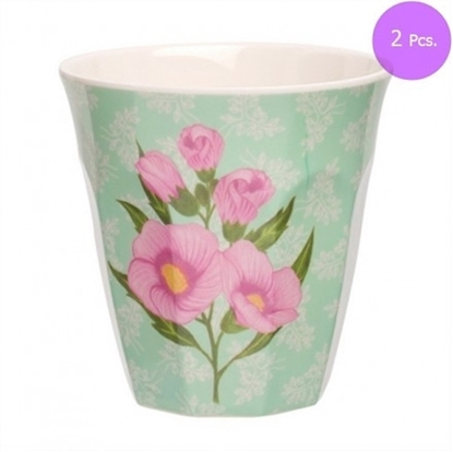Picture of MEDIUM CURVE CUP SWEET BOTANICAL(PINK) 2 Pcs.
