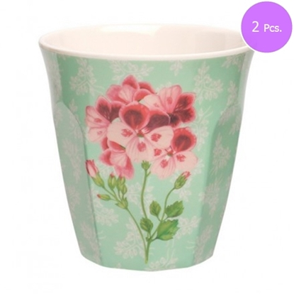 Picture of MEDIUM CURVE CUP SWEET BOTANICAL(RED) 2 Pcs.