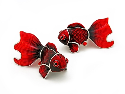 Picture of Loyfar Pewter Lucky Goldfish Salt & Pepper Shakers (2 Pieces)