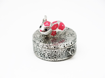 Picture of Loyfar Pewter Mouse Round Box