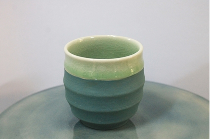Picture of Blue bamboo teacup celadon