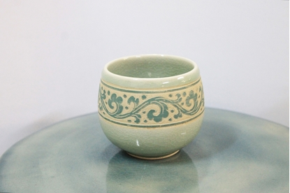 Picture of Blue fat teacup celadon