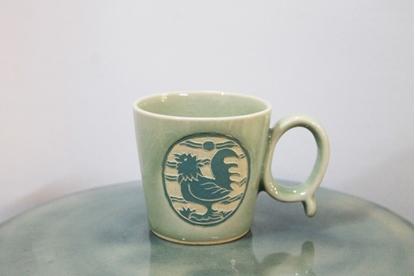 Picture of แก้วมัครูปไก่สีฟ้า