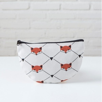 Picture of Canvas pencil case - curve fox