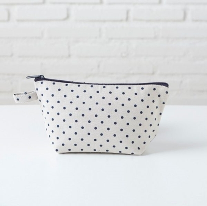 Picture of Canvas cosmetic bag - Blue dot