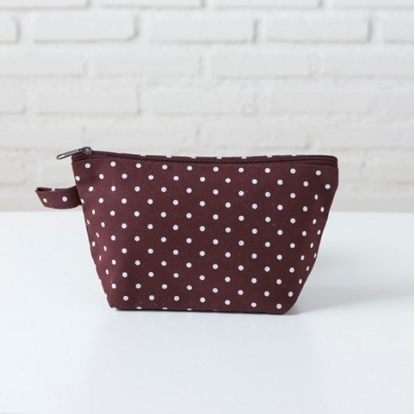 Picture of Canvas cosmetic bag - Dot brown