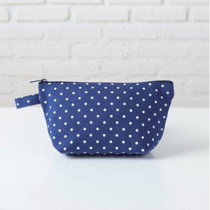 Picture of Canvas cosmetic bag - Dot blue