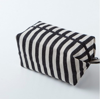 Picture of Canvas cosmetic bag - Minibox Stripe