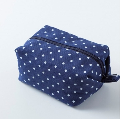 Picture of Canvas cosmetic bag - Minibox Dot blue