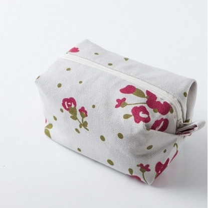 Picture of Canvas cosmetic bag - Minibox Rose