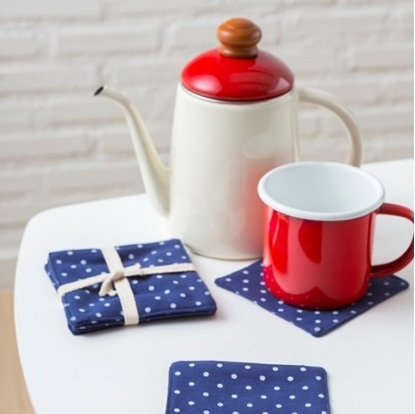 Picture of Cotton coaster set (4 pieces / set) - Dot Blue
