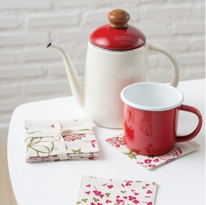 Picture of Cotton coaster set (4 pieces / set) - Spring Red