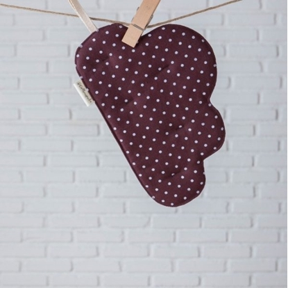 Picture of Cotton pot holder cloud shape - Dot Brown