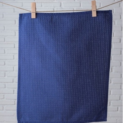Picture of ผ้าเช็ดจาน/ผ้าเช็ดมือ cotton ลาย Solid Blue