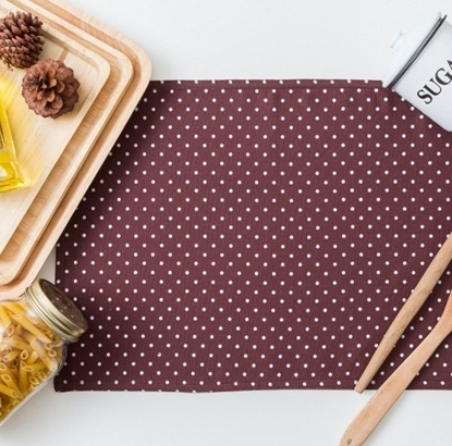 Picture of Cotton Placemat - Dot Brown