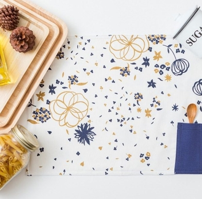 Picture of Cotton Placemat - Spring Blue