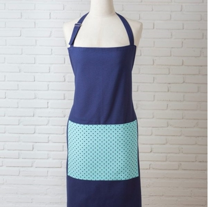 Picture of Cotton Apron - Blue Dot mint