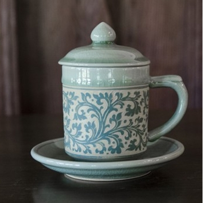 Picture of Blue kanok mug celadon