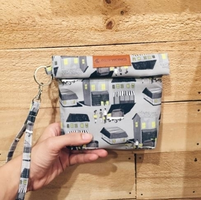 Picture of House Grey Wristlet Bag