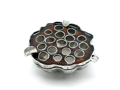 Picture of Loyfar Pewter Colored Lotus Ash Tray