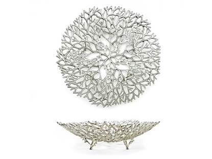 Picture of Loyfar Pewter Antler Coral Round Plate