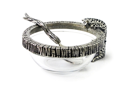Picture of Loyfar Pewter Cheetah Glass Bowl