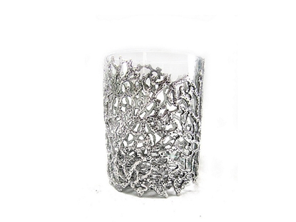 Picture of Loyfar Pewter Coral Big Glass Candle Holder