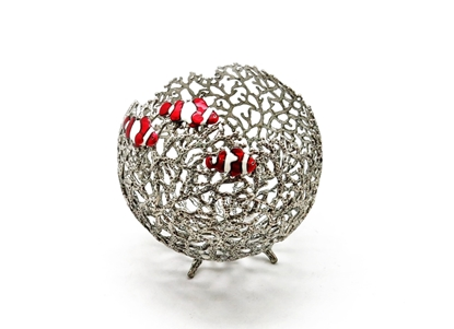 Picture of Loyfar Pewter Coral with Fish Ball-shaped Fruit Holder
