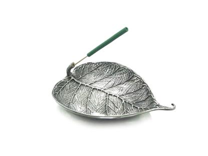 Picture of Loyfar Pewter Bodhi Leaf Incense Holder