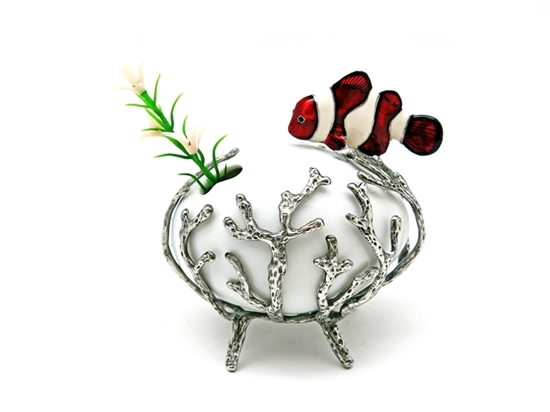 Picture of Loyfar Pewter Coral with Nemo Ceramic Vase
