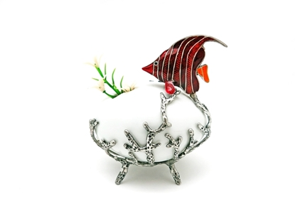 Picture of Loyfar Pewter Coral with Fish Ceramic Vase