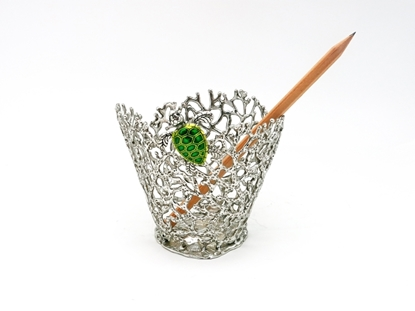 Picture of Loyfar Pewter Coral with Green Turtle Pen Holder