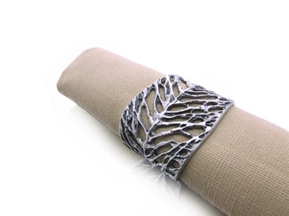 Picture of Loyfar Pewter Dry Leaf Napkin Ring