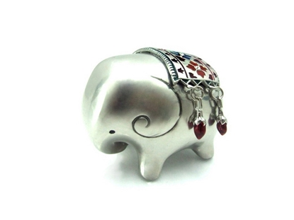 Picture of Loyfar Pewter Dressing Elephant Paper Weight