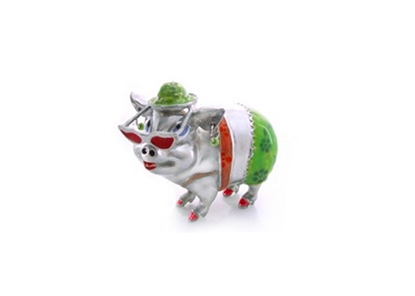 Picture of Loyfar Pewter Punky Pig Paper Weight