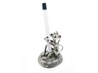 Picture of Loyfar Pewter Happy Monkey Pen Holder & Paper Weight