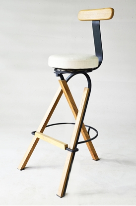 Picture of Genie Plus White Spin Bar Stool