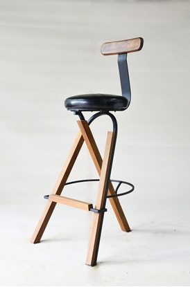 Picture of Genie Plus Black Bar Stool
