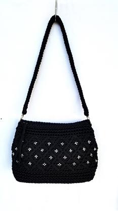 Picture of Blink blink black crochet bag