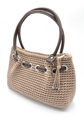Picture of Brown crochet hand bag
