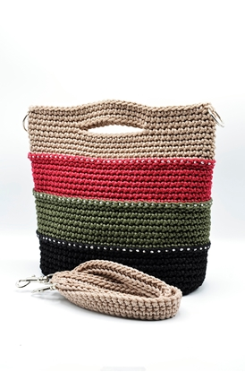 Picture of Colorful layers crochet bag