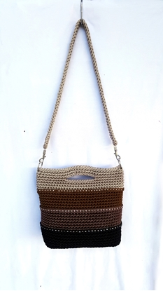 Picture of Brown layers crochet bag