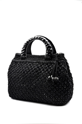 Picture of Classic black crochet bag