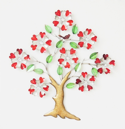 Picture of Red heart tree Iron Wall art Home decor