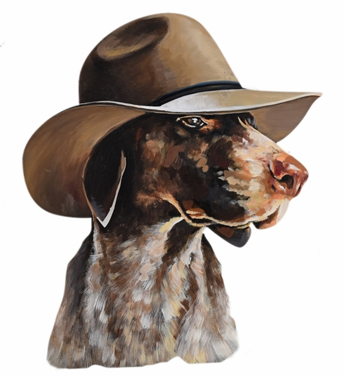 Picture of Dog with hat Iron Wall art Home decor